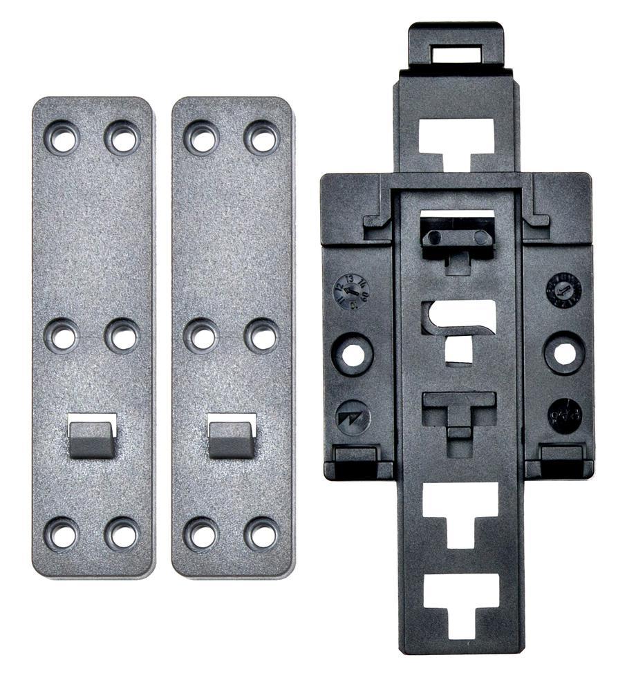 null Zaczep do mocowania na szynie DIN (ISO) z łącznikami stabilizującymi