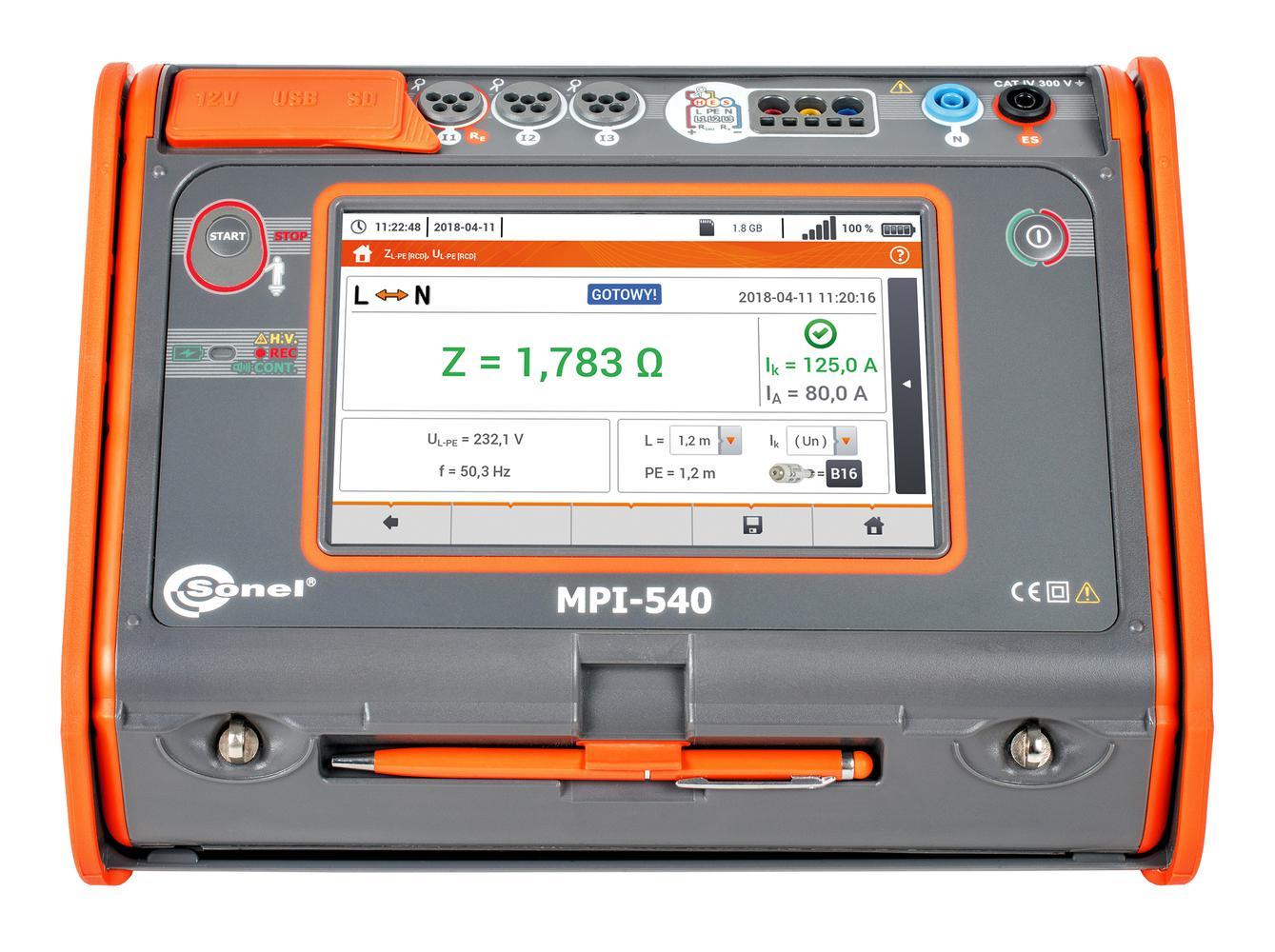 MPI-540 Miernik parametrów instalacji elektrycznych