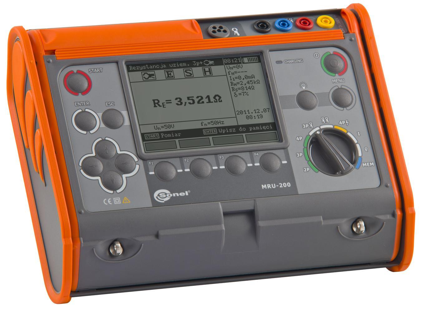 MRU-200 Miernik rezystancji uziemienia i rezystywności gruntu