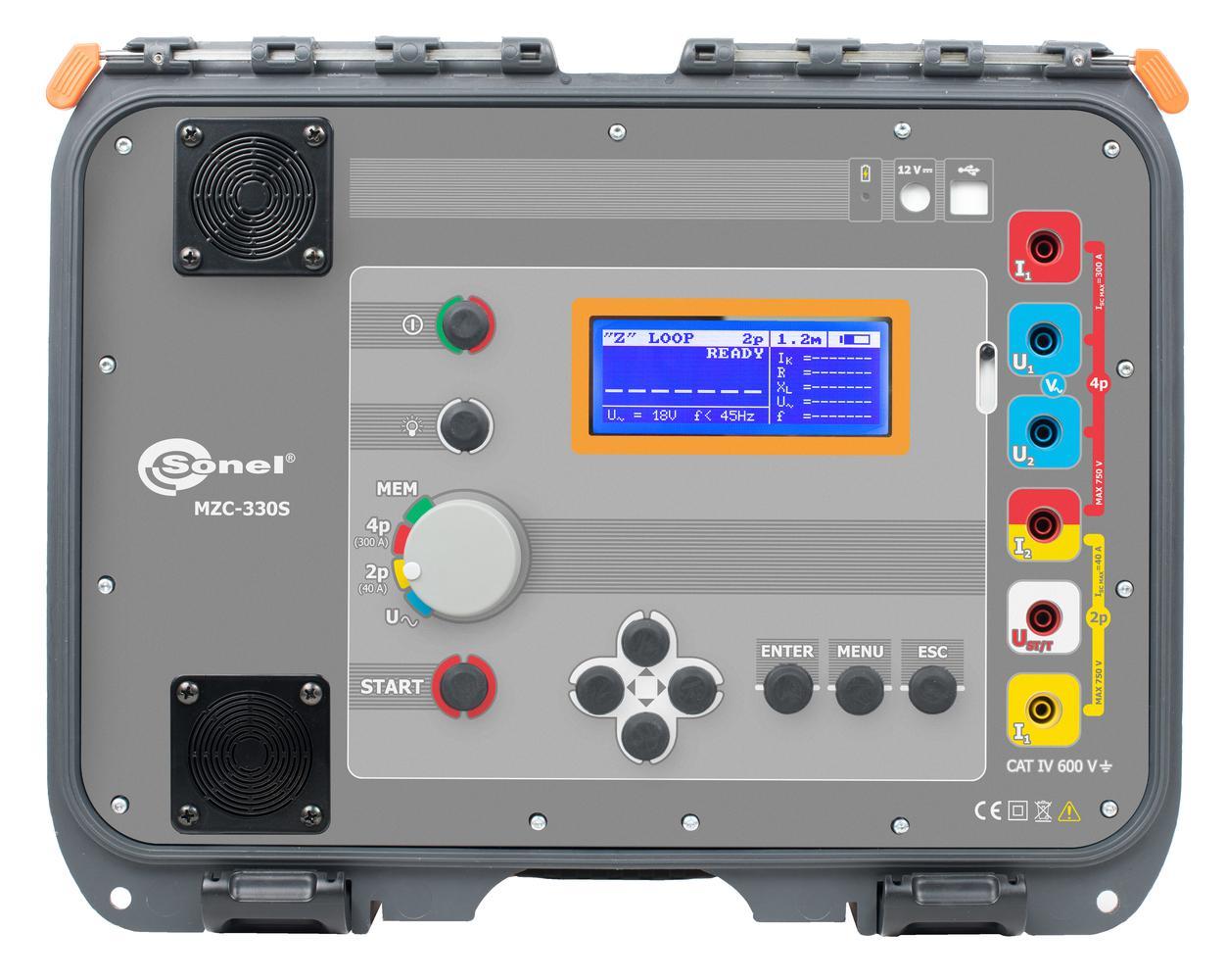 MZC-330S Silnoprądowy miernik impedancji pętli zwarcia