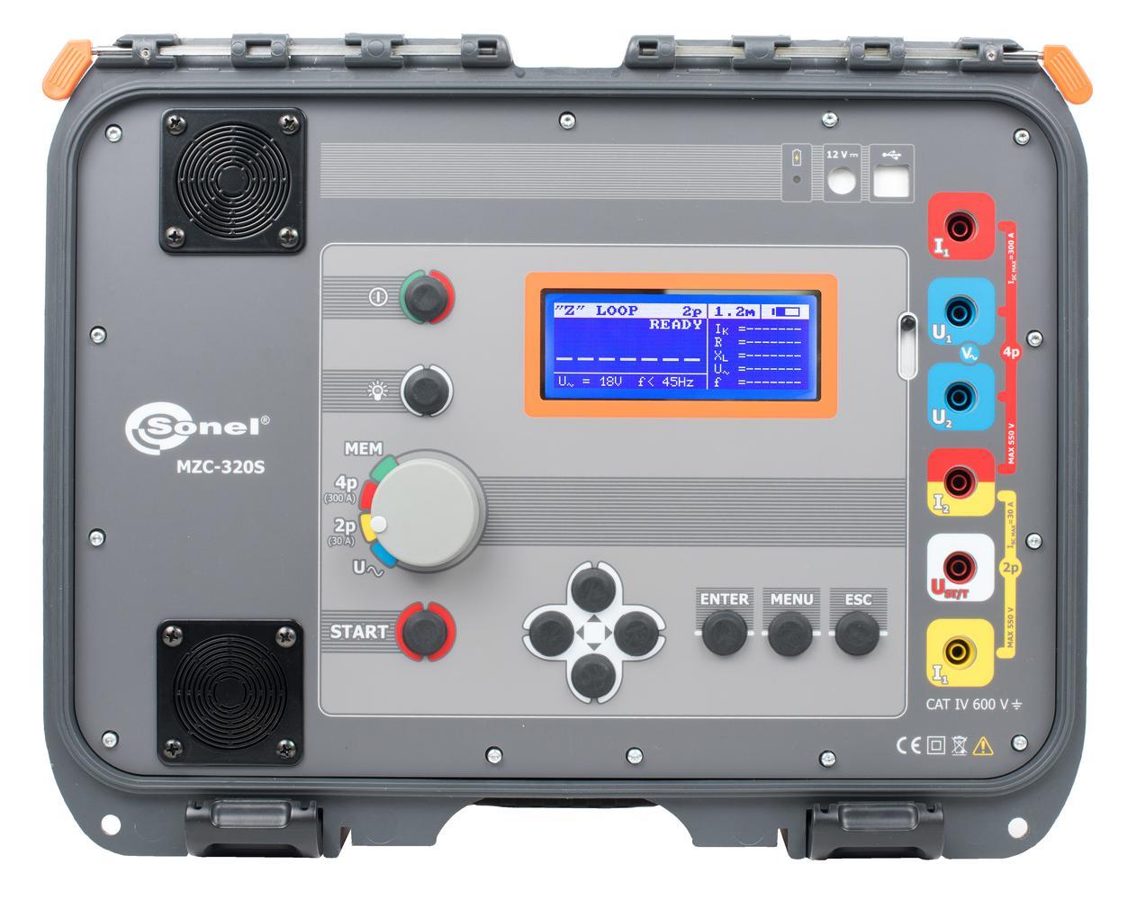 MZC-320S Silnoprądowy miernik impedancji pętli zwarcia