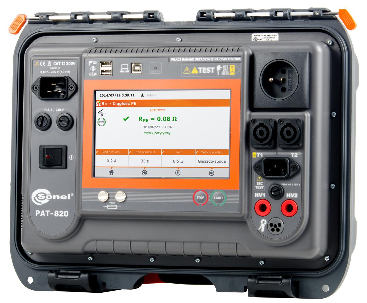 PAT-820 Miernik bezpieczeństwa sprzętu elektrycznego