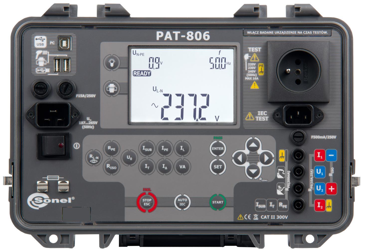 PAT-806 Miernik bezpieczeństwa sprzętu elektrycznego