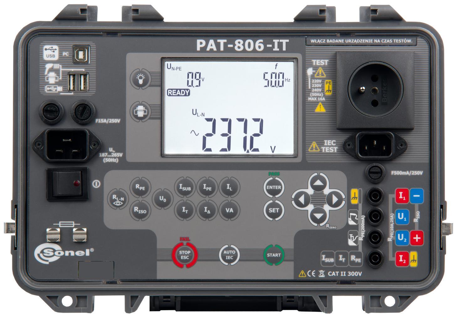 PAT-806-IT Miernik bezpieczeństwa sprzętu elektrycznego