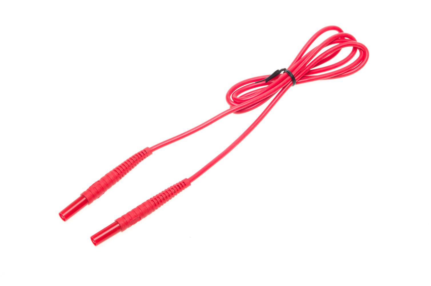 Przewód 1,2m czerwony 1 kV (2,5 mm2 /wtyki bananowe)