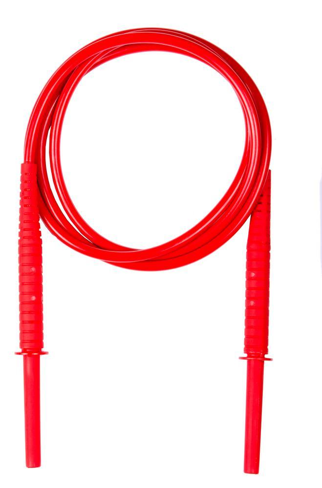 Przewód 1,8 m czerwony 11 kV (wtyki bananowe)