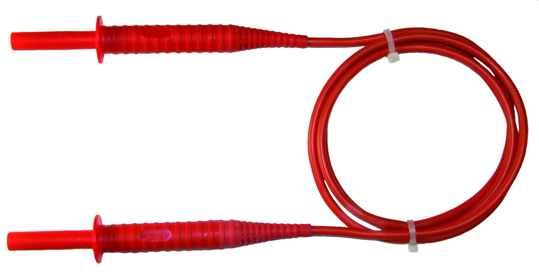 Przewód 1,8 m czerwony 5 kV (wtyki bananowe)