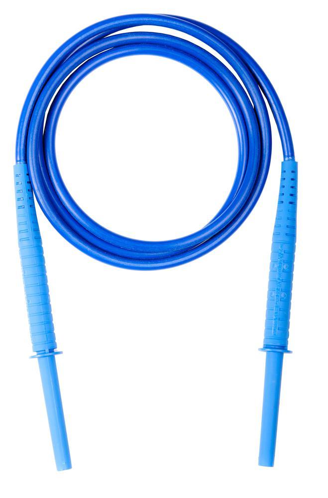 Przewód 1,8 m niebieski 11 kV (wtyki bananowe)