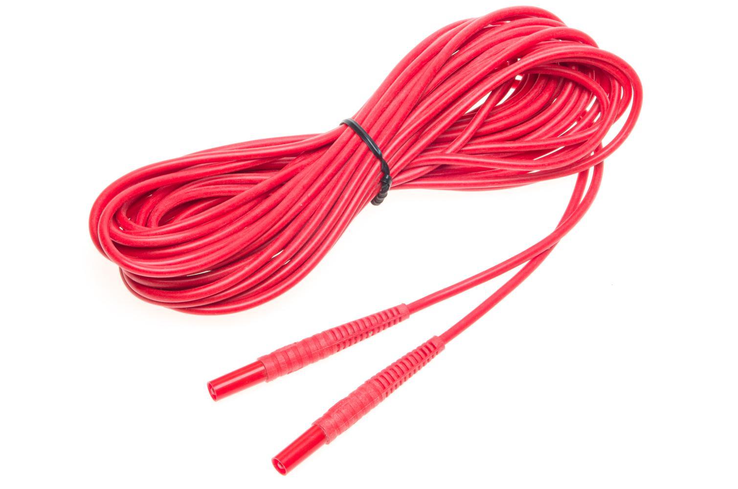 Przewód 10 m czerwony 1 kV (wtyki bananowe)