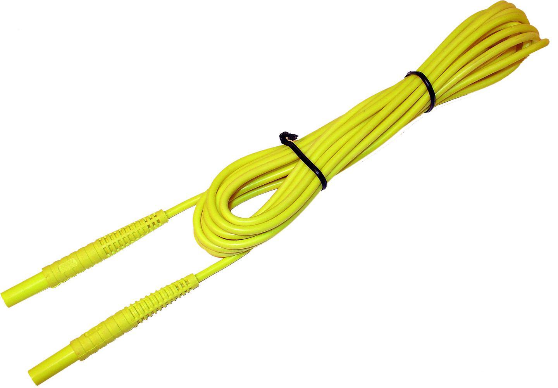 Przewód 10 m żółty 1 kV (wtyki bananowe)
