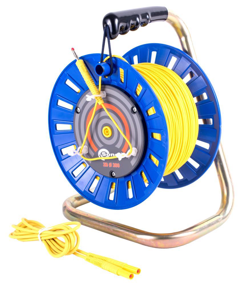 Przewód 100 m żółty do pomiaru uziemień na szpuli