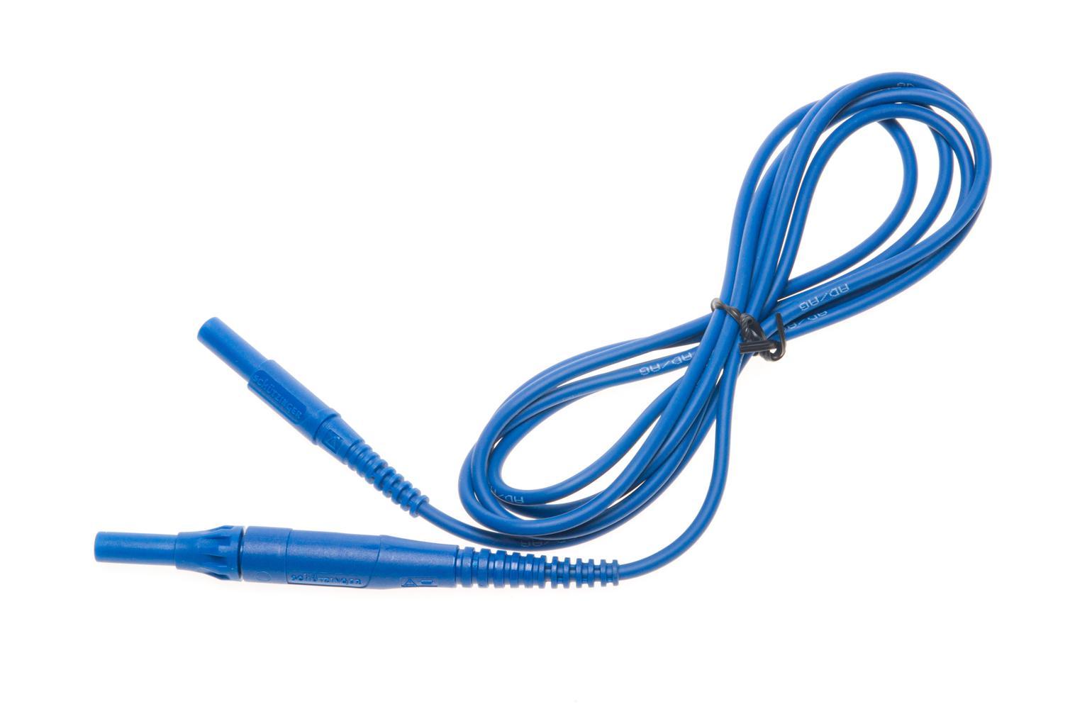 Przewód 2 m niebieski CAT IV 1000 V (wtyki bananowe z bezpiecznikiem 10 A)
