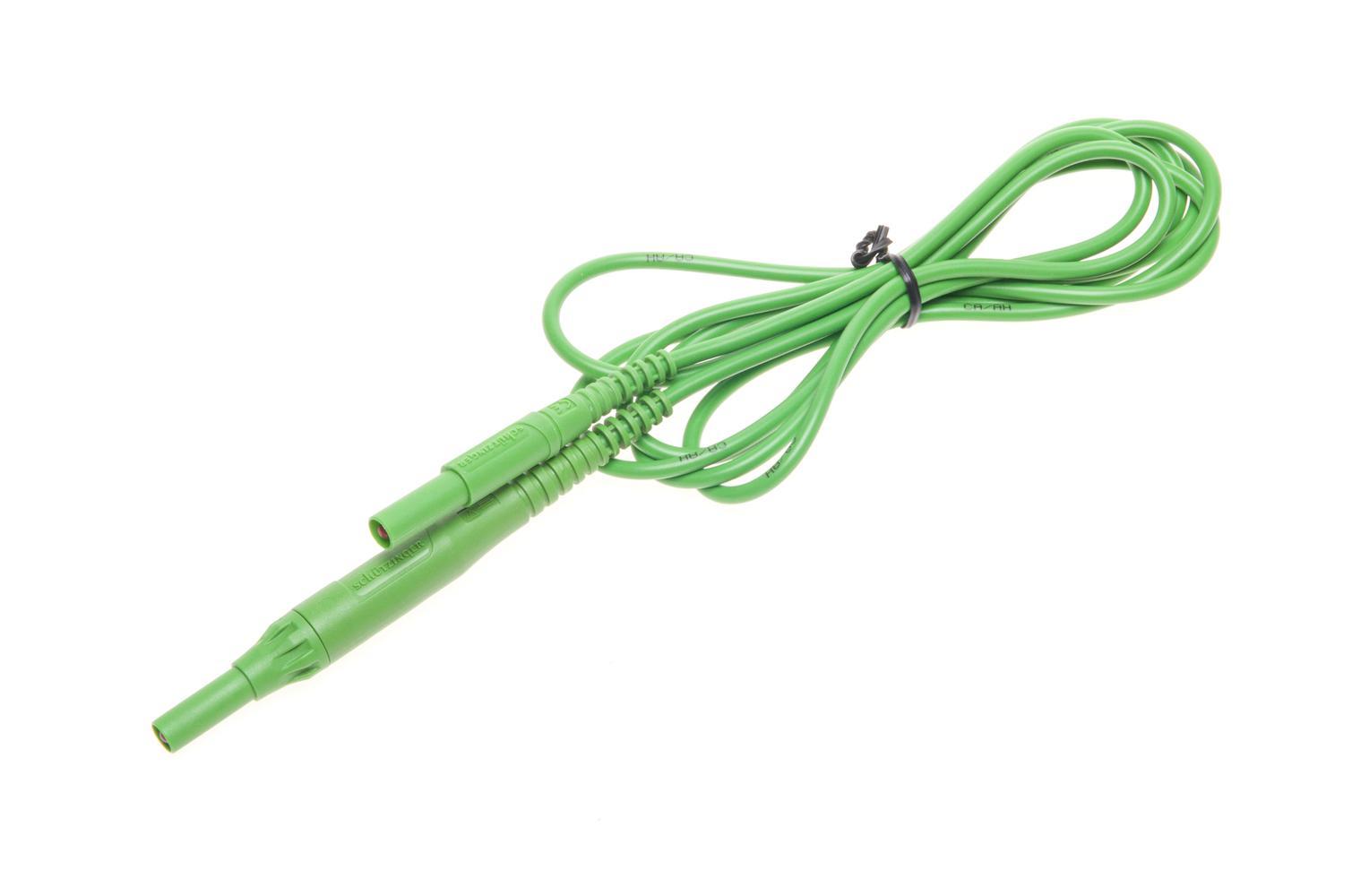Przewód 2 m zielony CAT IV 1000 V (wtyki bananowe z bezpiecznikiem 10 A)