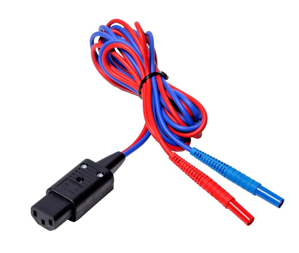 null Przewód 2,1 m dwużyłowy (wtyk IEC C13 / bananki)