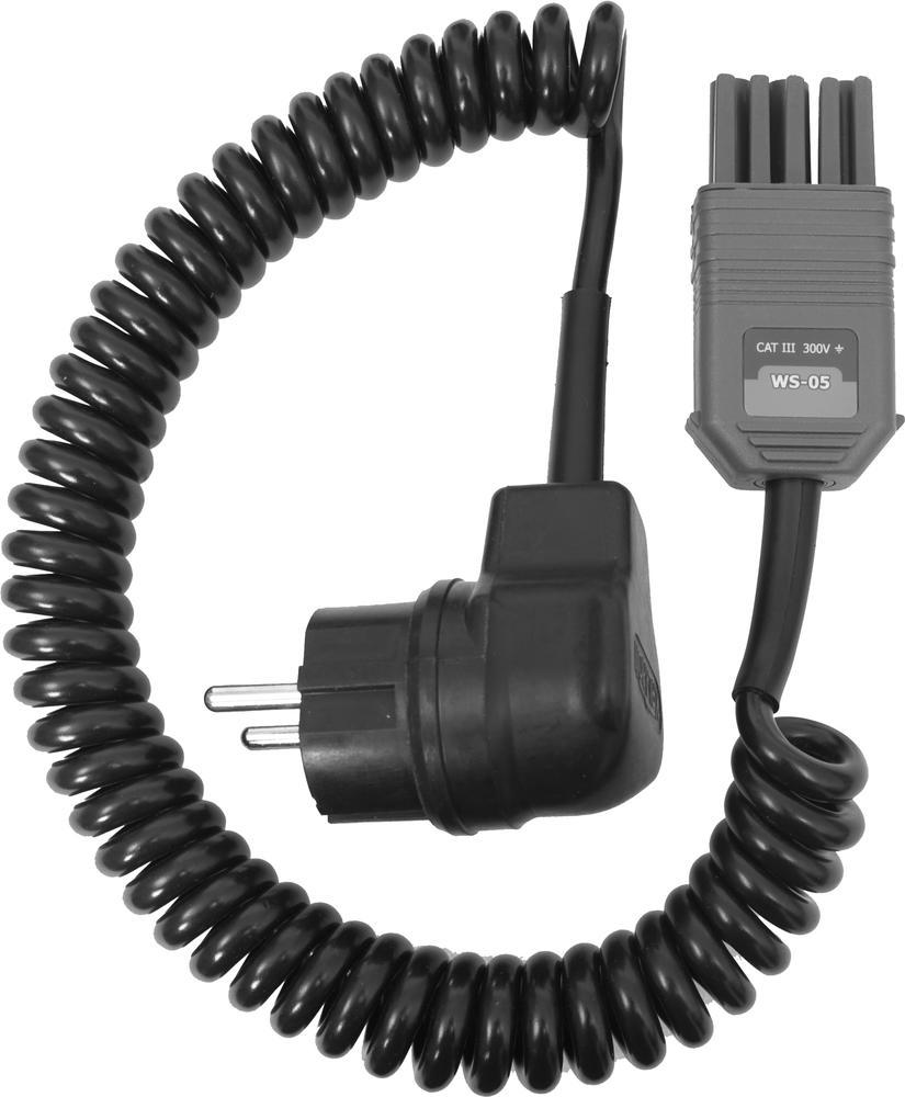 WS-05 Adapter pomiarowy (wtyk kątowy UNI-Schuko)