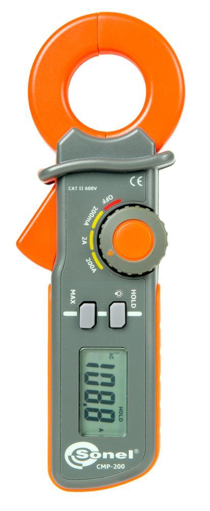 CMP-200 Cęgowy miernik upływu prądu przemiennego