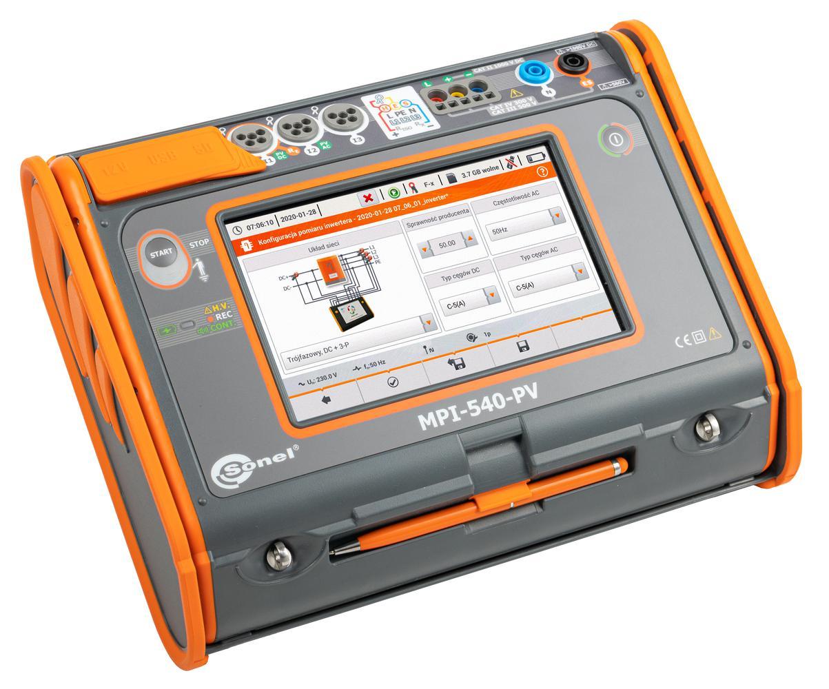 MPI-540-PV Miernik parametrów instalacji elektrycznych i fotowoltaicznych